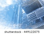 double exposure of cloud and... | Shutterstock . vector #449122075