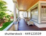 front porch with chairs and... | Shutterstock . vector #449123539