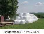 Packed Hay Bale Harvested...