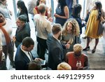 business people meeting eating... | Shutterstock . vector #449129959
