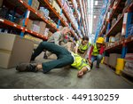 workers taking care about their ... | Shutterstock . vector #449130259