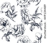 seamless floral pattern with a... | Shutterstock .eps vector #449134489