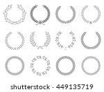 wreath collection   vector... | Shutterstock .eps vector #449135719