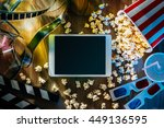 digital touch screen tablet... | Shutterstock . vector #449136595
