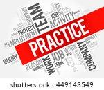 practice word cloud collage ... | Shutterstock .eps vector #449143549