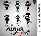 ninja logo set 5 | Shutterstock .eps vector #449144824
