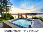awesome water view with hot tub ... | Shutterstock . vector #449146069