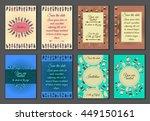 set of boho ornament... | Shutterstock .eps vector #449150161