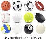 set of sports balls  soccer ... | Shutterstock . vector #449159701