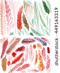 set of hand drawn watercolor... | Shutterstock . vector #449163319
