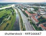 aerial image of kaunas city ...   Shutterstock . vector #449166667