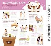beauty salon spa people... | Shutterstock .eps vector #449173849