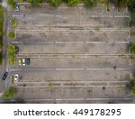 empty parking lots  aerial view. | Shutterstock . vector #449178295