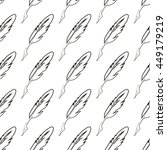 set of feathers isolated on... | Shutterstock . vector #449179219