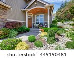 home exterior with concrete... | Shutterstock . vector #449190481