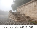 Stone Stairs In Fog
