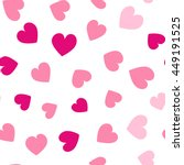 seamless hearts pattern with... | Shutterstock .eps vector #449191525