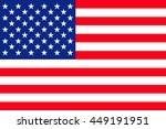 flat united states of america... | Shutterstock .eps vector #449191951