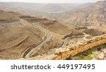 view from mount nebo in jordan... | Shutterstock . vector #449197495