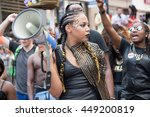 Small photo of TORONTO,CANADA-JULY 3,2016:Black Lives Matter halts the Toronto Pride Parade staging a sit-in and making demands to Pride Executives. BLM was the honored guest to the celebration