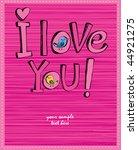 hand drawn cartoon romantic set ... | Shutterstock .eps vector #44921275