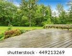 View Of Wooden Walkout Deck...