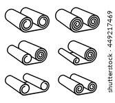 roll of anything black symbol... | Shutterstock .eps vector #449217469