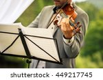 male violinist playing his... | Shutterstock . vector #449217745