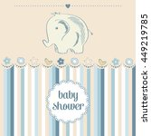 baby boy shower card  vector... | Shutterstock .eps vector #449219785