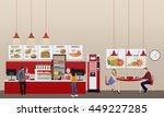 fast food restaurant interior...   Shutterstock . vector #449227285