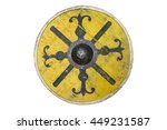 Stock photo a early medieval round shield 449231587
