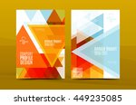 colorful fresh business a4... | Shutterstock .eps vector #449235085