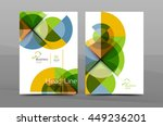 design of annual report cover... | Shutterstock .eps vector #449236201