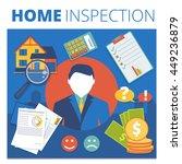 home inspection vector concept...   Shutterstock .eps vector #449236879