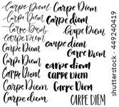 Carpe Diem Phrase Set. Simple...