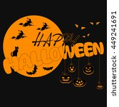 happy halloween vector... | Shutterstock .eps vector #449241691