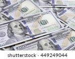 heap of one hundred us dollar...   Shutterstock . vector #449249044