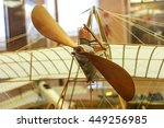 vintage wooden airplane model...   Shutterstock . vector #449256985