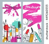 vector banners with doodle... | Shutterstock .eps vector #449260555