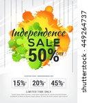 creative sale banner or poster... | Shutterstock .eps vector #449264737