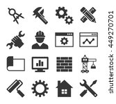 engineering icon set. vector | Shutterstock .eps vector #449270701