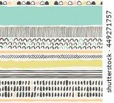 trendy vector seamless pattern...   Shutterstock .eps vector #449271757