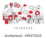teamwork  people team on white... | Shutterstock .eps vector #449275225