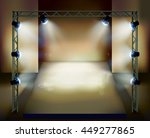 presentation on the stage.... | Shutterstock .eps vector #449277865