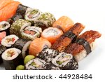 different types of sushi   Shutterstock . vector #44928484