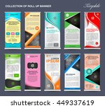 collection of roll up banner... | Shutterstock .eps vector #449337619
