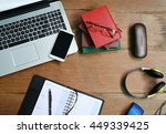 layout of working place with... | Shutterstock . vector #449339425