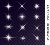 vector starlights effects.... | Shutterstock .eps vector #449341795