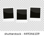 photo frames isolated on a... | Shutterstock .eps vector #449346109