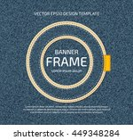 vector stitched layered padded... | Shutterstock .eps vector #449348284